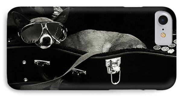 Panhandling Dog Phone Case by Julie Niemela