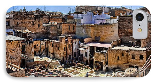 Panorama Of The Ancient Tannery In Fez Morocco IPhone Case