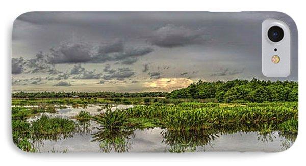 Panorama, Florida Wetlands At Sunset IPhone Case