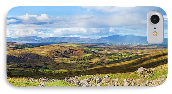 IPhone Case featuring the photograph Panorama Of A Colourful Undulating Irish Landscape In Kerry by Semmick Photo