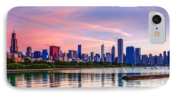Panorama Of Chicago Skyline From Shedd Aquarium - Chicago Illinois IPhone Case by Silvio Ligutti
