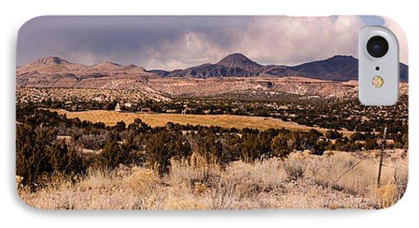 Panorama Of Cochiti Lake Golf Club - Cochiti Pueblo Jemez Mountains New Mexico IPhone Case