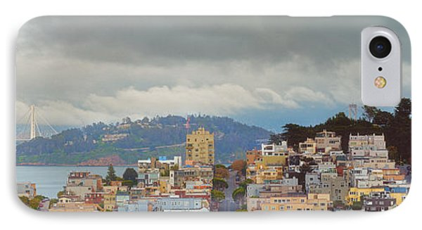 Panorama Of Coit Tower - Yerbabuena Island And Bay Area - San Francisco California IPhone Case by Silvio Ligutti