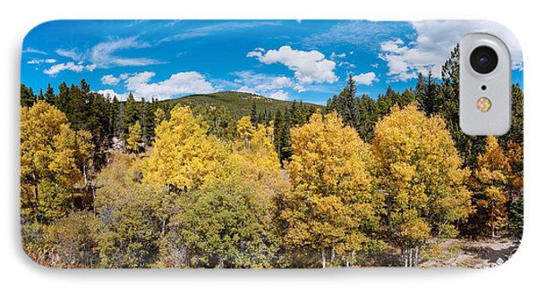 Panorama Of Fall Foliage Aspens In Colorado - Arapaho National Forest - Peak To Peak Highway IPhone Case by Silvio Ligutti