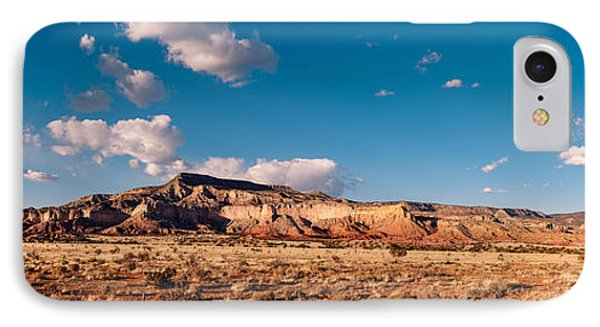 Panorama Of Ghost Ranch Mountains And Mesas - A Tribute To The Master - Abiquiu Northern New Mexico IPhone Case