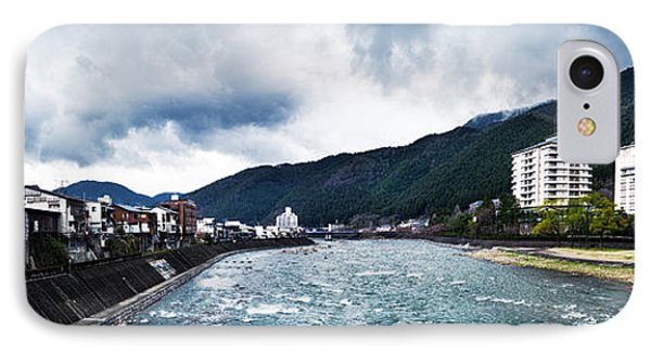 Panorama Of Hida River And Mountains In Gero Japan IPhone Case by Oleksiy Maksymenko