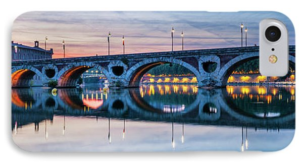 IPhone Case featuring the photograph Panorama Of Pont Neuf In Toulouse by Elena Elisseeva