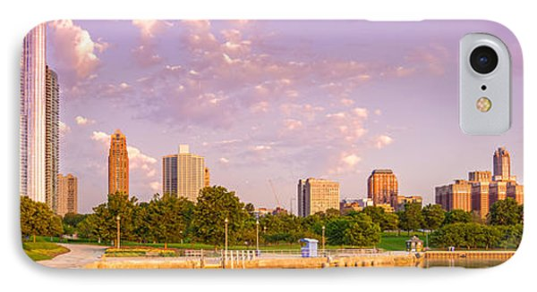 Panorama Of South Side Of Chicago Skyline And One Museum Park From Shedd Aquarium - Chicago Illinois IPhone Case by Silvio Ligutti
