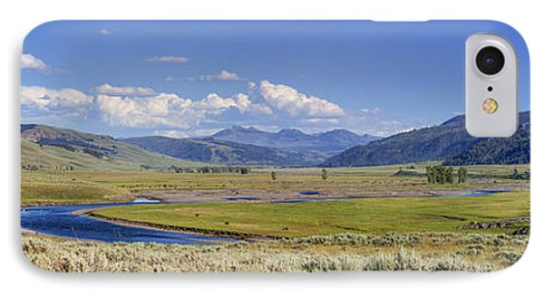Panorama Of The Lamar Valley IPhone Case
