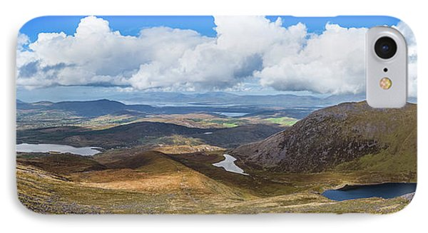 IPhone Case featuring the photograph Panorama Of Valleys And Mountains In County Kerry On A Summer Da by Semmick Photo