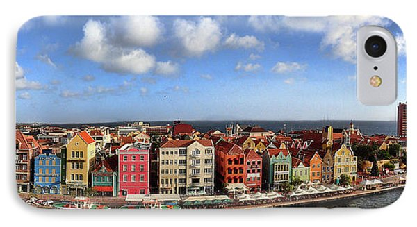 Panorama Of Willemstad Harbor Curacao IPhone Case