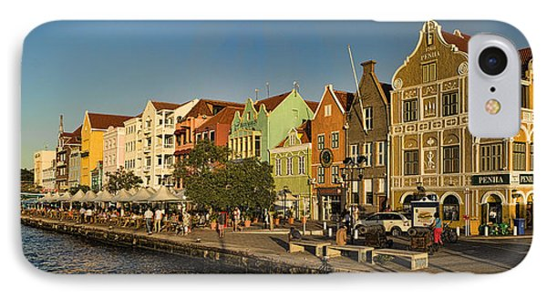 Panorama Of Willemstad Waterfront Curacao IPhone Case by David Smith
