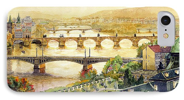 Panorama Prague Briges Phone Case by Yuriy  Shevchuk
