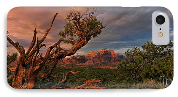 Panorama Storm Back Of Zion Near Hurricane Utah IPhone Case by Dave Welling