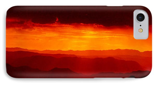 Panorama - Valley Of Fire Sunset 003 IPhone Case by George Bostian
