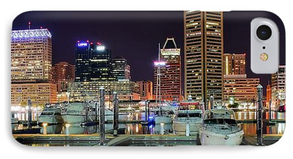 Panoramic Baltimore IPhone Case by Frozen in Time Fine Art Photography