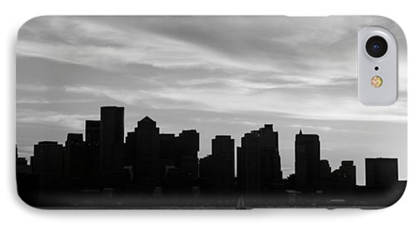Panoramic Boston Skyline Black And White Photo IPhone Case by Paul Velgos