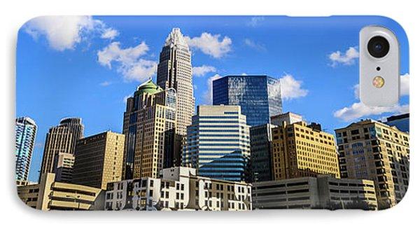 Panoramic Charlotte Skyline Photo IPhone Case by Paul Velgos