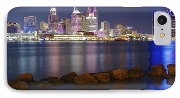 Panoramic Detroit IPhone Case by Frozen in Time Fine Art Photography