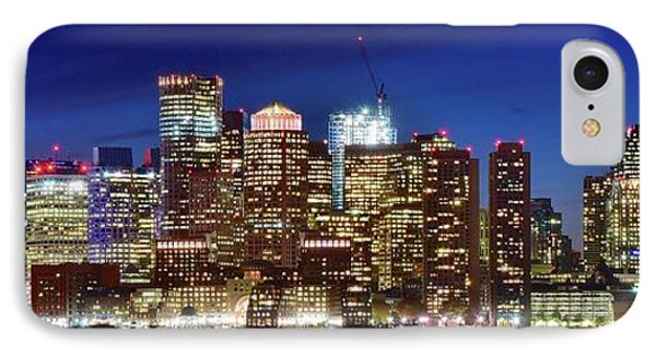 Panoramic Lights On A Boston Night IPhone Case