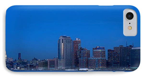 Panoramic Night View Of Empire State IPhone Case by Panoramic Images