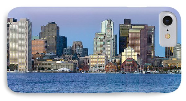 Panoramic Of Boston Harbor IPhone Case by Panoramic Images