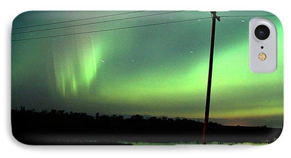Panoramic Prairie Northern Lights Phone Case by Mark Duffy