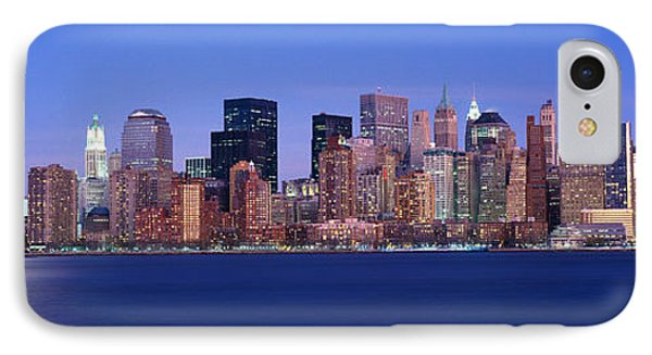 Panoramic Sunset View Of Empire State IPhone Case by Panoramic Images