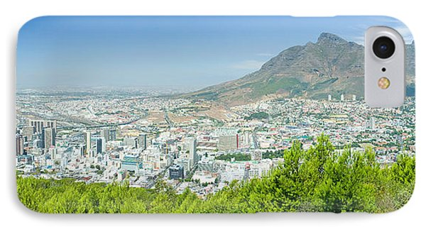 Panoramic View Of Cape Town And Table IPhone Case by Panoramic Images
