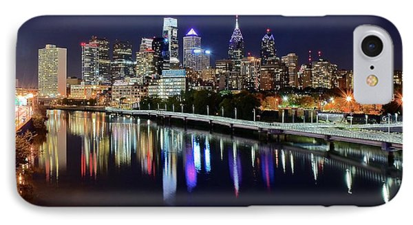 Panoramic View Of Philly IPhone Case by Frozen in Time Fine Art Photography