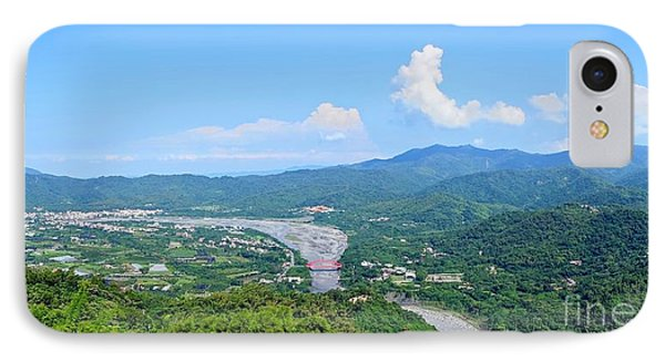 IPhone Case featuring the photograph Panoramic View Of Southern Taiwan by Yali Shi