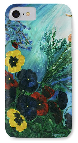 Pansies And Poise Phone Case by Jennifer Christenson