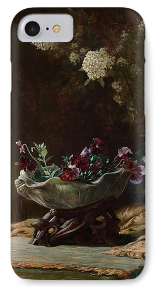 Pansies And Spirea IPhone Case