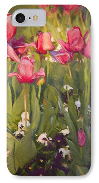 IPhone Case featuring the photograph Pansies And Tulips by Lana Trussell
