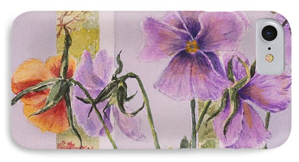 Pansies On My Porch IPhone Case by Mary Ellen Mueller Legault