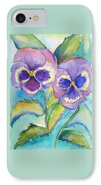 Pansies IPhone Case by Patricia Piffath