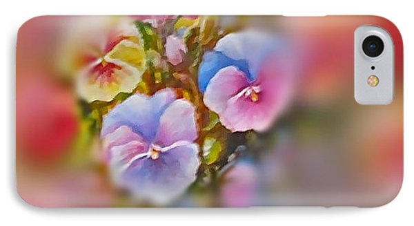 IPhone Case featuring the painting Pansies by Patricia Schneider Mitchell