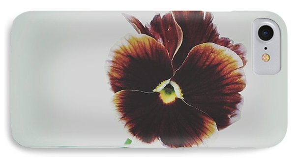 IPhone Case featuring the photograph Pansy Face by Karen Stahlros