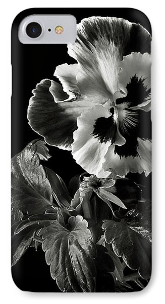 Pansy In Black And White IPhone Case by Endre Balogh