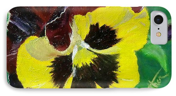 IPhone Case featuring the painting Pansy No. Ten by Bonnie Heather