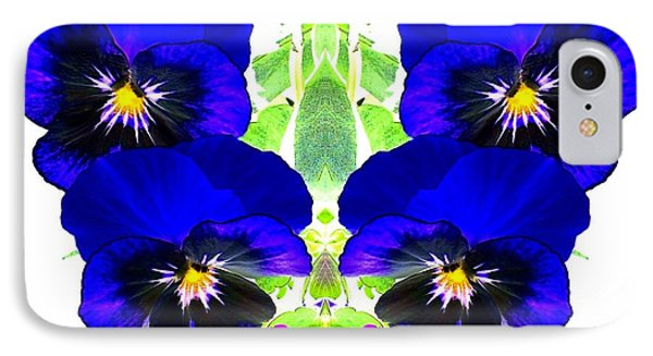 IPhone Case featuring the photograph Pansy Pattern by Marianne Dow