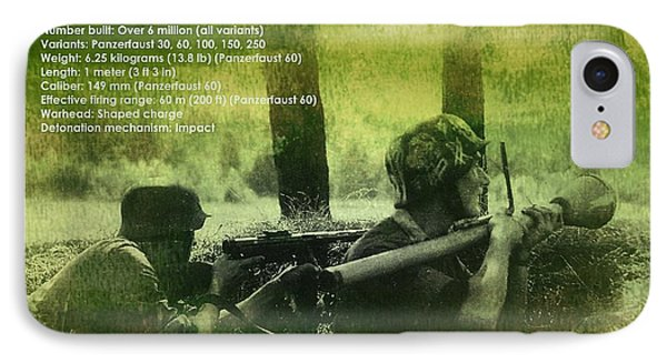 Panzerfaust In Action IPhone Case by John Wills