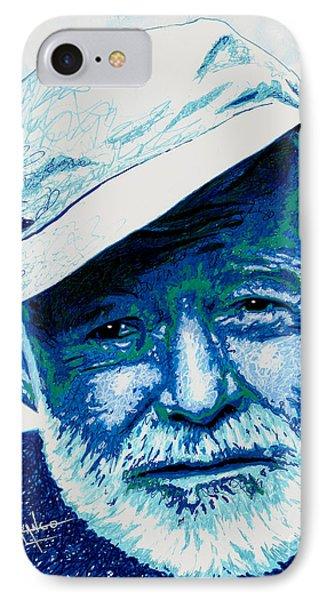 Papa Hemingway IPhone Case by Maria Arango
