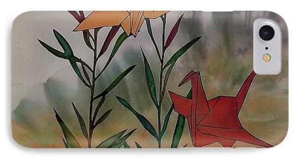 Paper Cranes 1 IPhone Case by Carolyn Doe