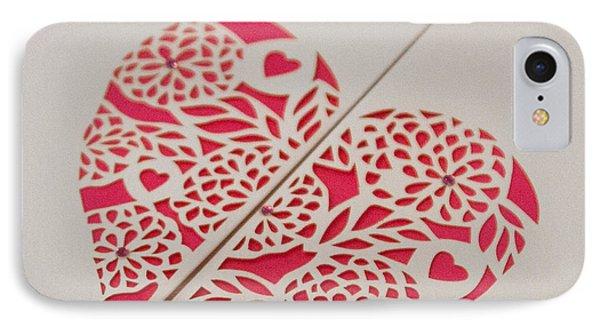 Paper Cut Heart IPhone Case
