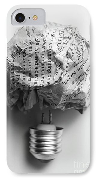 Paper Light Bulb IPhone Case by Jorgo Photography - Wall Art Gallery