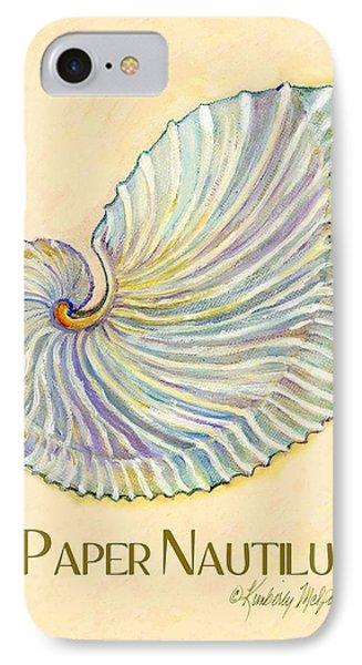 Paper Nautilus IPhone Case