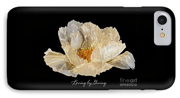 IPhone Case featuring the photograph Paper Peony Loving By Giving by Diane E Berry
