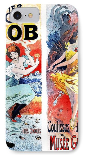 Papier A Cigarettes - Musee Grevin Vintage Entertainment Poster IPhone Case