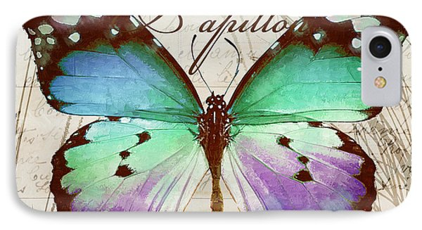 Papillon Blue IPhone Case
